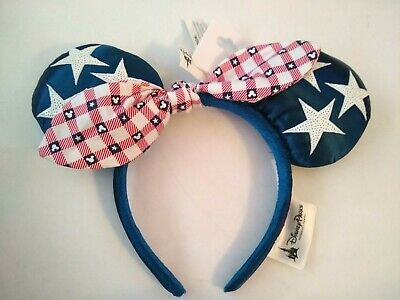 NWT Disney Parks Minnie Mouse Ears American Girl Americana 4th of July Bandana
