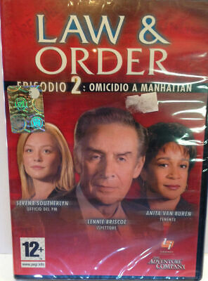 Law & order 2 omicidio a Manhattan gioco pc game nuovo italiano sigillato