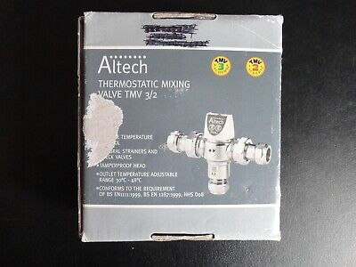 Altech 22mm Thermostatic Mixing Valve UW05399 TMV2 TMV3 approved