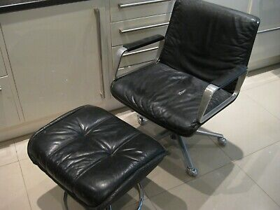 Vintage Retro Soderberg Leather Foot Stall Made In Sweden