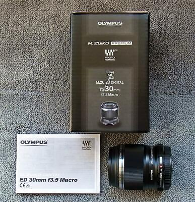 OLYMPUS 30mm f3.5 ED MACRO LENS  -  BOXED  -  SUPERB CONDITION