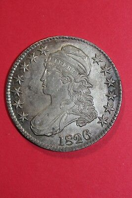 1826 Capped Bust Half Dollar Beautiful High Grade Early Coin OCE 025