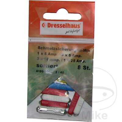 Dresselhaus Ceramic Fuse Set 5-25A Assortment x8pcs 4044325642947