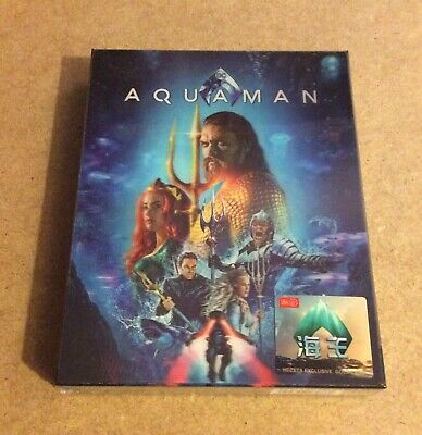 Aquaman - Hdzeta Lenticular 4K Ultra Hd Blu Ray Steelbook - New & Sealed