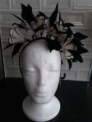 M&S Feather Fascinator Hat   BNWT  RRP  £34.99