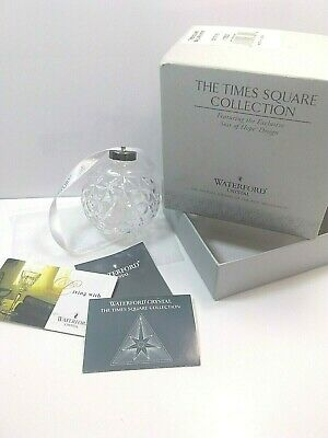 Waterford Crystal~The Times Square Collection~Star Of Hope~Ball Ornament~W/ Box