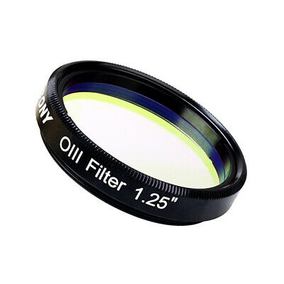 """O-III Filter 18nm 1.25"""" Narrowband Cuts Light Pollution for Telescopes SV115 AU"""