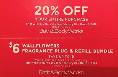 Bath & Body Works 2 Coupons