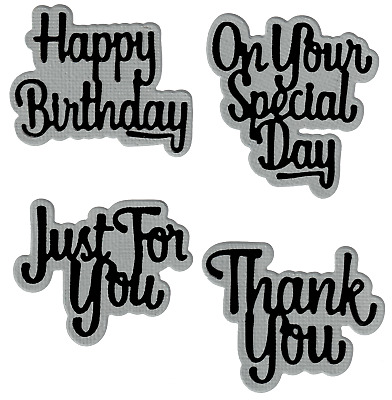 Your Special Day and Thank You - Metal Cutting Dies - AUSTRALIAN STOCK