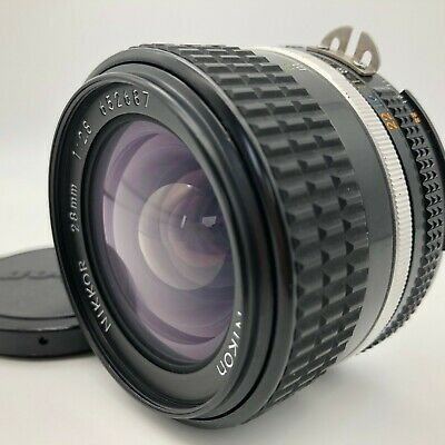 Nikon Nikkor AI-S 28mm f/2.8 WIDE MF MANUAL LENS 【Excellent+++】 from JAPAN