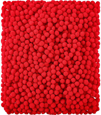 2000 Pieces 6 mm Pom Poms for Craft Making, Hobby Supplies and DIY Creative Red