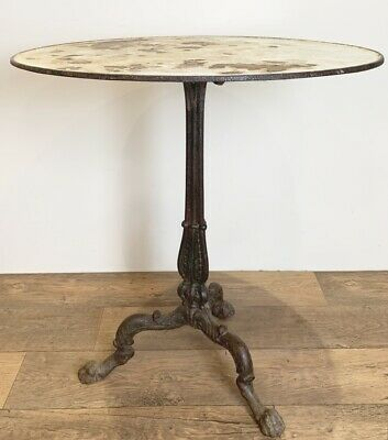 Large 19Th Century Cast Iron French Bistro Table