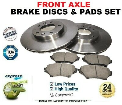 Front Axle BRAKE DISCS and PADS for MITSUBISHI LANCER SPORTBACK 1.8 DiD 2010->on