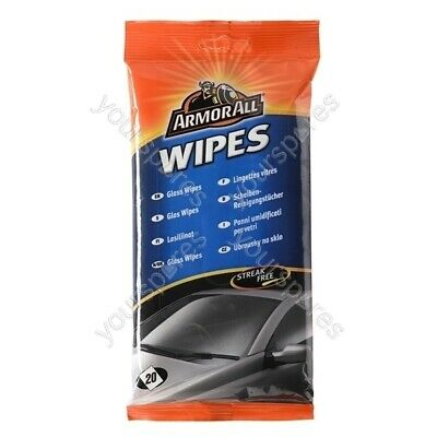 Armorall Glass Wipes - Pack Of 20