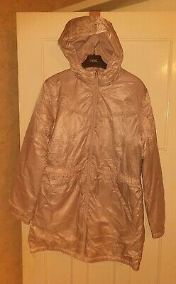 BNWT Girls Next Shiny Pink Light Padded Spring Jacket Coat Age 16 Years New