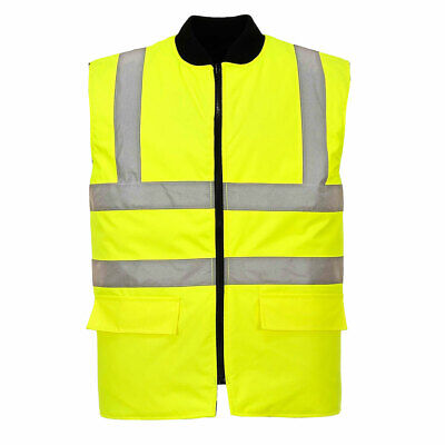 Hi Vis Reversable Bodywarmer, Yellow