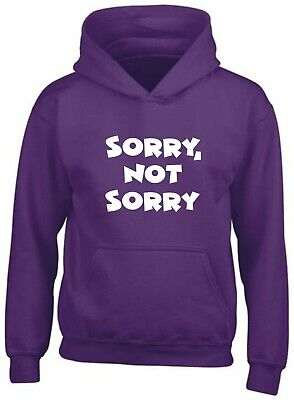 Sorry Not Printed Hoodie Mean Girls Bitch Quote Meme Funny Sarcasm Demi Lovato