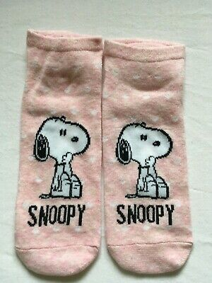 3 Peanuts SNOOPY Shoe Liner Socks Three Pack Ladies SIZE 4-8 New