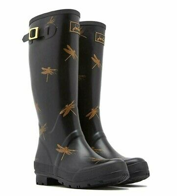 Joules Welly Print (Black Dragonflies) 30% OFF **LIMITED SIZES LEFT**