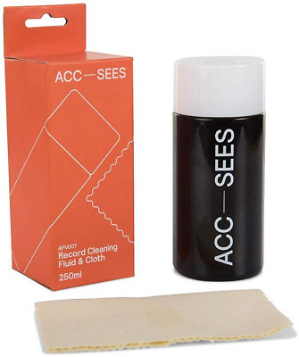Acc-Sees Pro Vinyl Record Cleaning Fluid 250ml – Includes Microfibre Lint-Free -