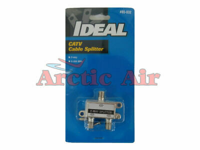 85-032 IDEAL CATV Cable Splitter (2 way, 5-900 MHz)