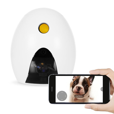 FunPaw Q Cat & Dog Treat Dispenser w/ Toy Laser: Monitor from Anywhere w/ the Ap