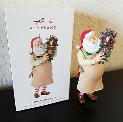 NEW 2019 HALLMARK Keepsake TOYMAKER SANTA Cookoo Clock Christmas ORNAMENT NIB