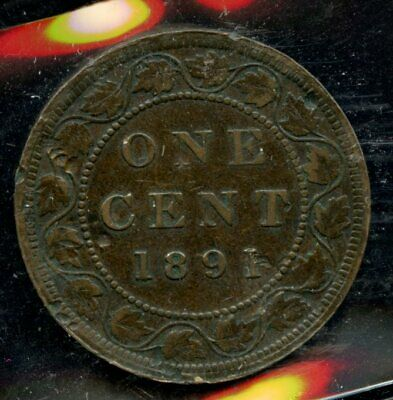 1891 Canada One Cent, Large Leaves Large Date - ICCS VF-20 - XDW809 - SALE