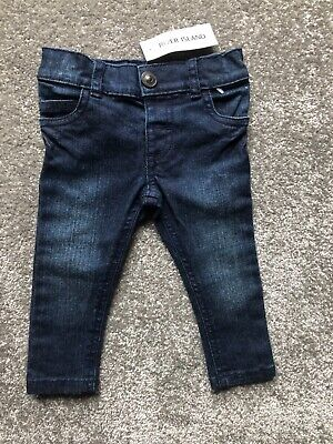 River Island Mini Baby Jeans Boys Girls Unisex Size  3-6 Months