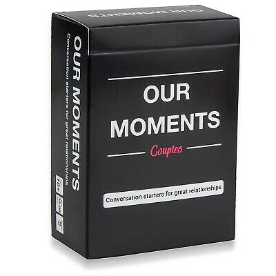 OUR MOMENTS Couples: 100 Thought Provoking Conversation Starters - Free Shipping