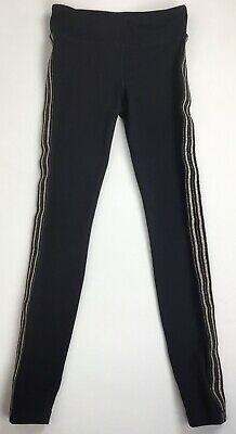 Athleta Girl Earn Your Stripe Tight Size M / 8-10 Black With Gold Sides