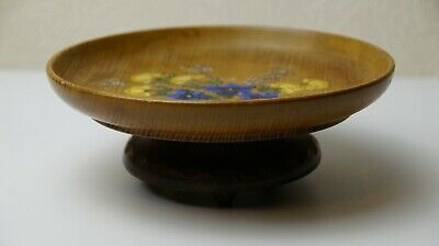 Antique Musical Wooden Bowl Handmade Art Decor Made in Switzerland Great Quality