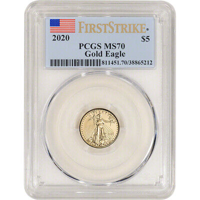 2020 American Gold Eagle 1/10 oz $5 - PCGS MS70 First Strike