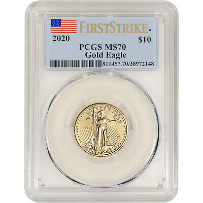 2020 American Gold Eagle 1/4 oz $10 - PCGS MS70 First Strike