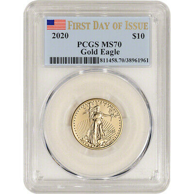 2020 American Gold Eagle 1/4 oz $10 - PCGS MS70 First Day of Issue