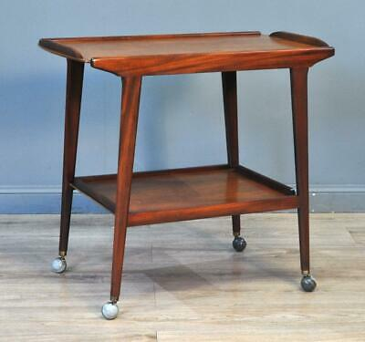 Attractive Vintage Retro Teak Two Tier Occasional Side Hall Table Trolley