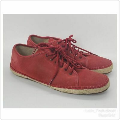 Rag & Bone womens Red Suede Shoes Sneakers Baylor sz 9