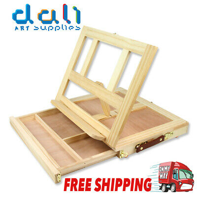 Table Easel Drawer Pine Wood Artist Easel Painting Stand Craft Art