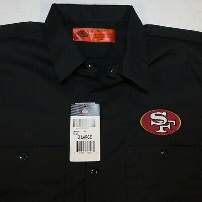 NEW SF SAN FRANCISCO 49ers NFL FOOTBALL DICKIES Embroidered WORK SHIRT All Sizes