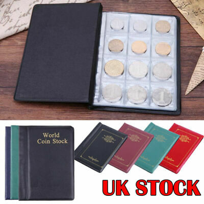 UK 120 Album Coin Penny Money Storage Book Case Folder Holder Collection 2 Style