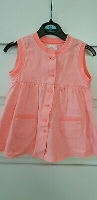 girls orange buttoned up top from NEXT age 12-18mnths