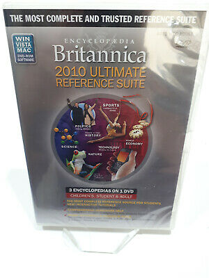 PC Encyclopedia Britannica 2010 Ultimate Reference Suite NEW & SEALED 3 in 1
