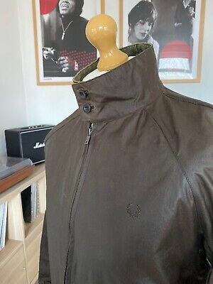 Fred Perry X British Millerain Waxed Green Harrington Jacket M Mod Ska Skins