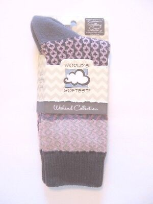 Weekend Collection NEW World/'s Softest Socks Crew Length Rainy Day