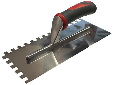 "HOLTMANN 11/"" Stainless Steel 8mm Square Notched Adhesive Tile Trowel RUST FREE"