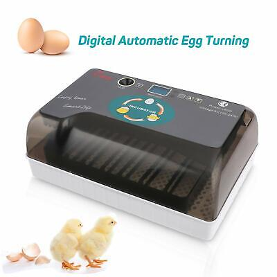 Home Farm Digital 12 Egg Hatcher Automatic Turning Incubator Poultry Chicken UK