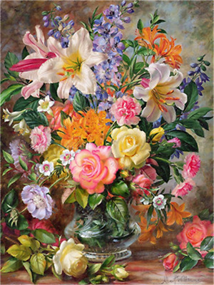 DIY Oil Paint by Number Kit for Adults Beginner 16x20 inch - Fresh Flowers, with