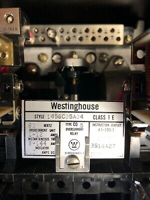 Westinghouse 1456C05A04 Type C05 Overcurrent Relay