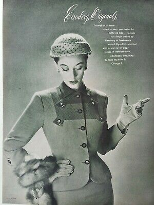 1951 women's Eisenberg Originals dress suit vintage fashion ad