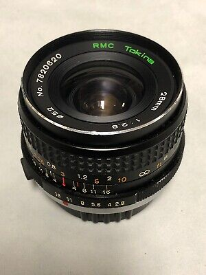 Tokina RMC 28mm f2.8 lens AS IS not working goes for parts